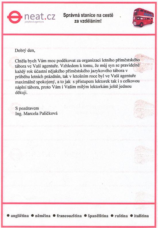 reference kurzy Paličková